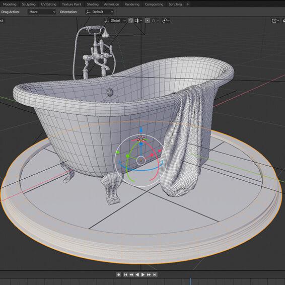 """Работа с курса """"3D моделирование в Blender"""""""